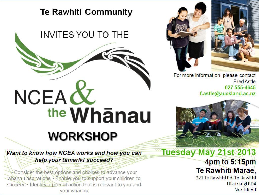 NCEA & the Whanau Workshop